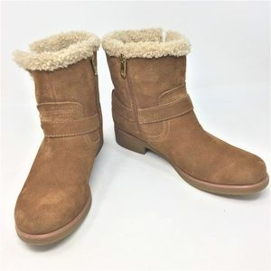 Tommy Hilfiger Boots Tan Suede Fur Lined 8M